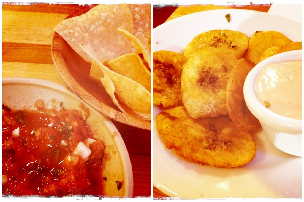 Salsa and Chips, Tostones