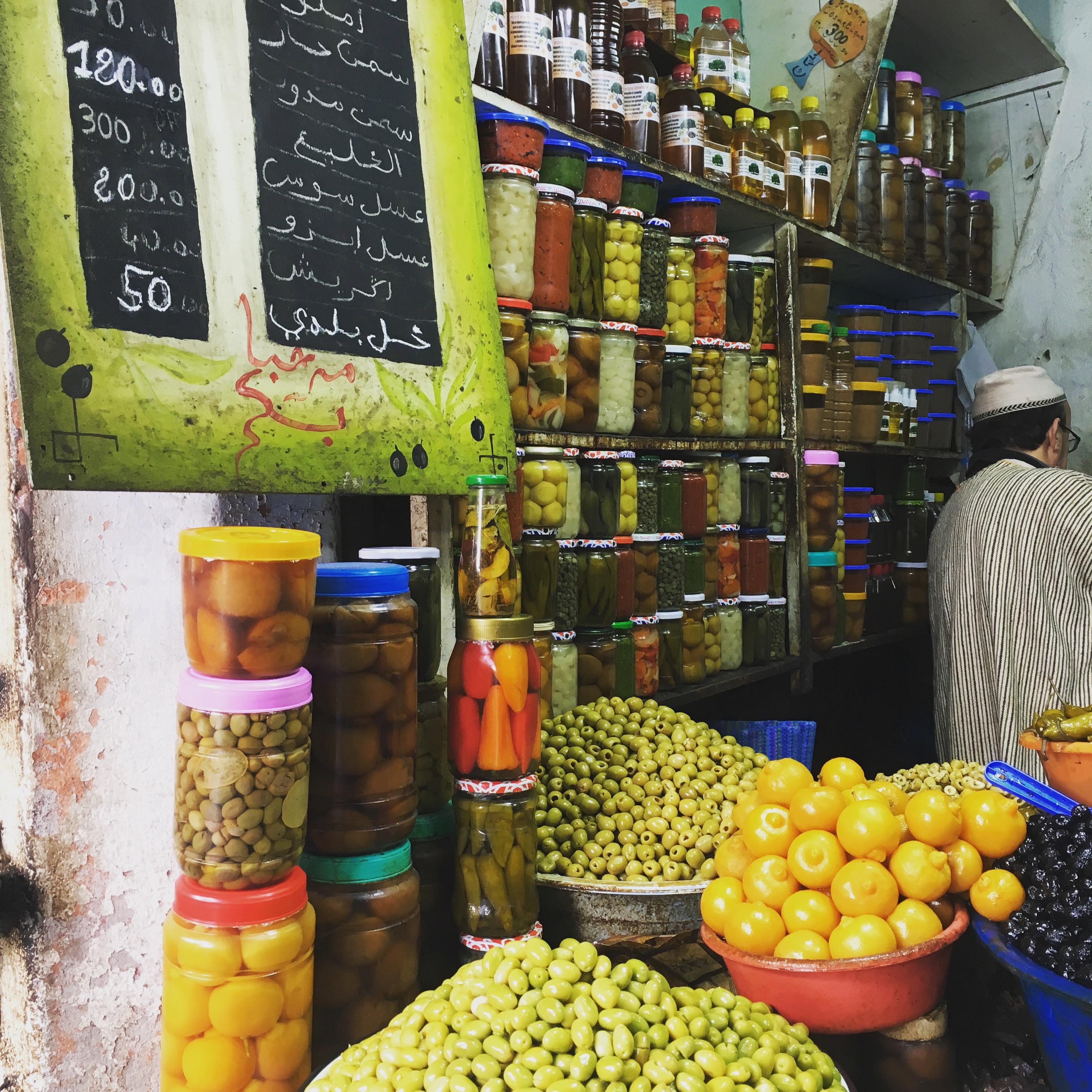 Olives, Jemaa Al-Fenaa, market